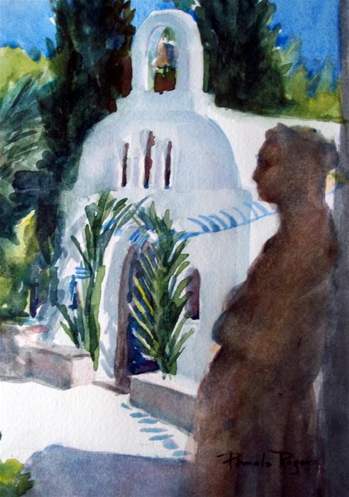 """Madonna and Chapel"" original fine art by Pamela Jane Rogers"