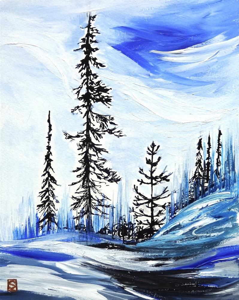 """""""5002 - Northern Beauty"""" original fine art by Sea Dean"""