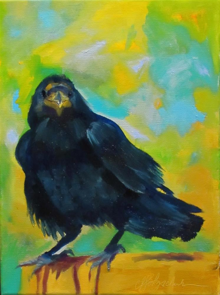 """Raven"" original fine art by Christine Holzschuh"