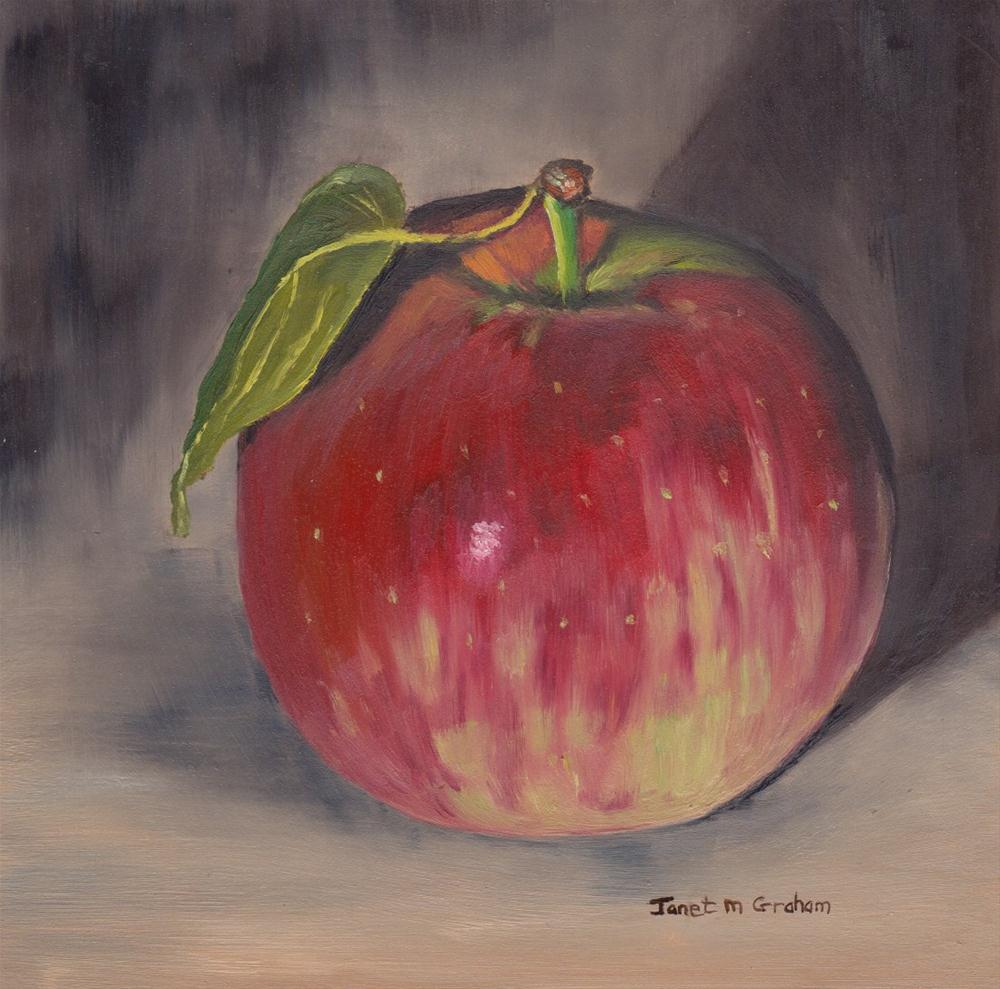 """Gala Apple 1"" original fine art by Janet Graham"