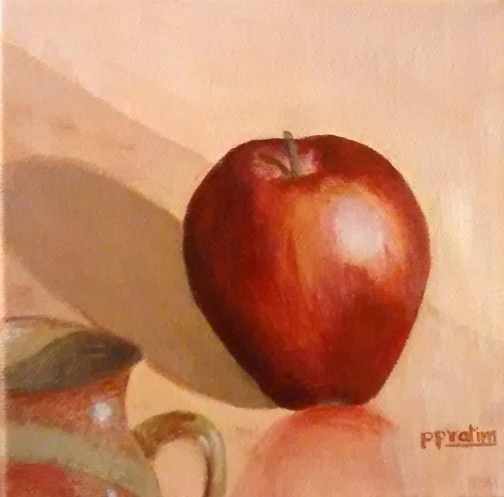 """Apple in sunlight"" original fine art by Pratima Patel"