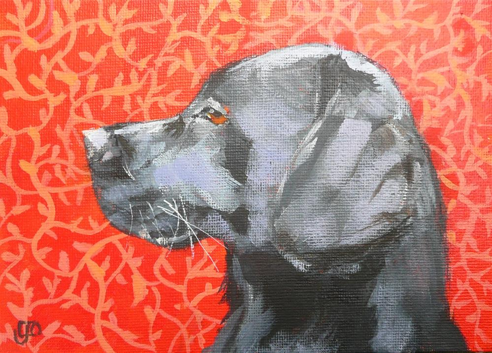 """Handsome"" original fine art by Leanne Owen"