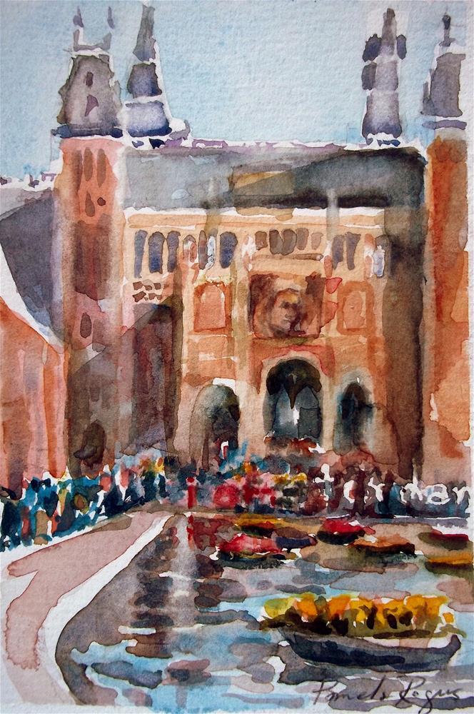 """i amsterdam"" original fine art by Pamela Jane Rogers"