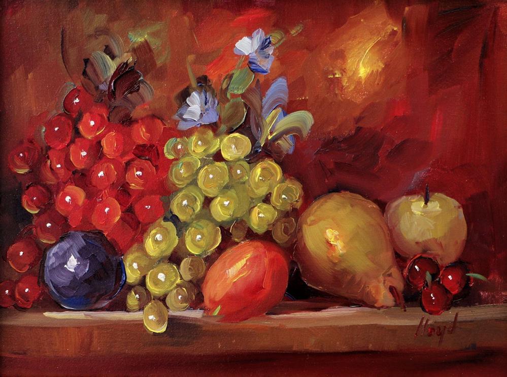 """Future Fruit Salad"" original fine art by Diane Lloyd"