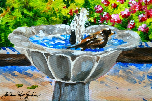 """Luxury Day Spa"" original fine art by JoAnne Perez Robinson"
