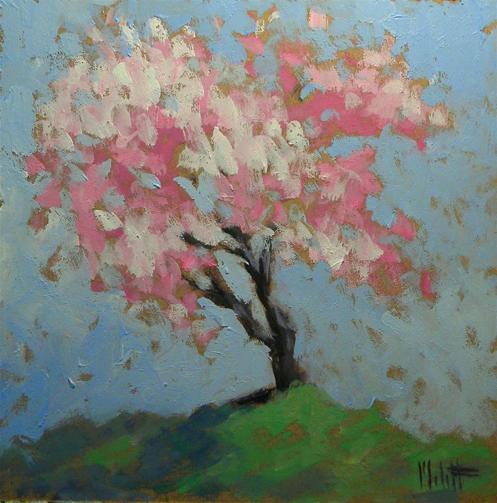 Spring Blossoms Oil Painting Flowering Trees Contemporary Impressionism original fine art by Heidi Malott