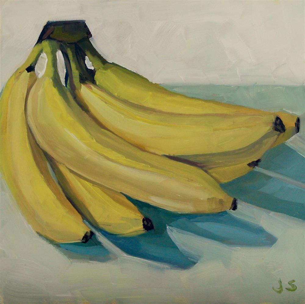 """Banana Bunch"" original fine art by Jamie Stevens"