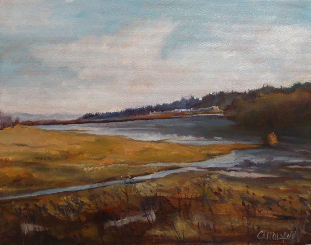 """Across The Fen"" original fine art by Carolynn Doan"