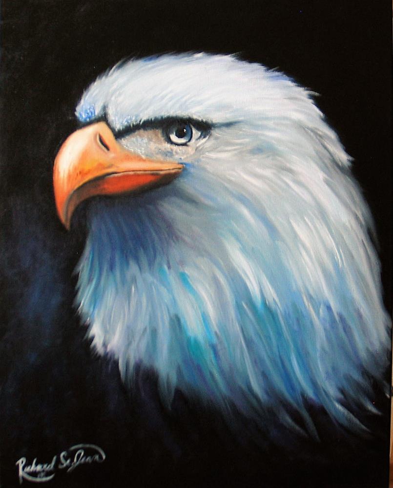 """American Eagle"" original fine art by Richard St.Jean"