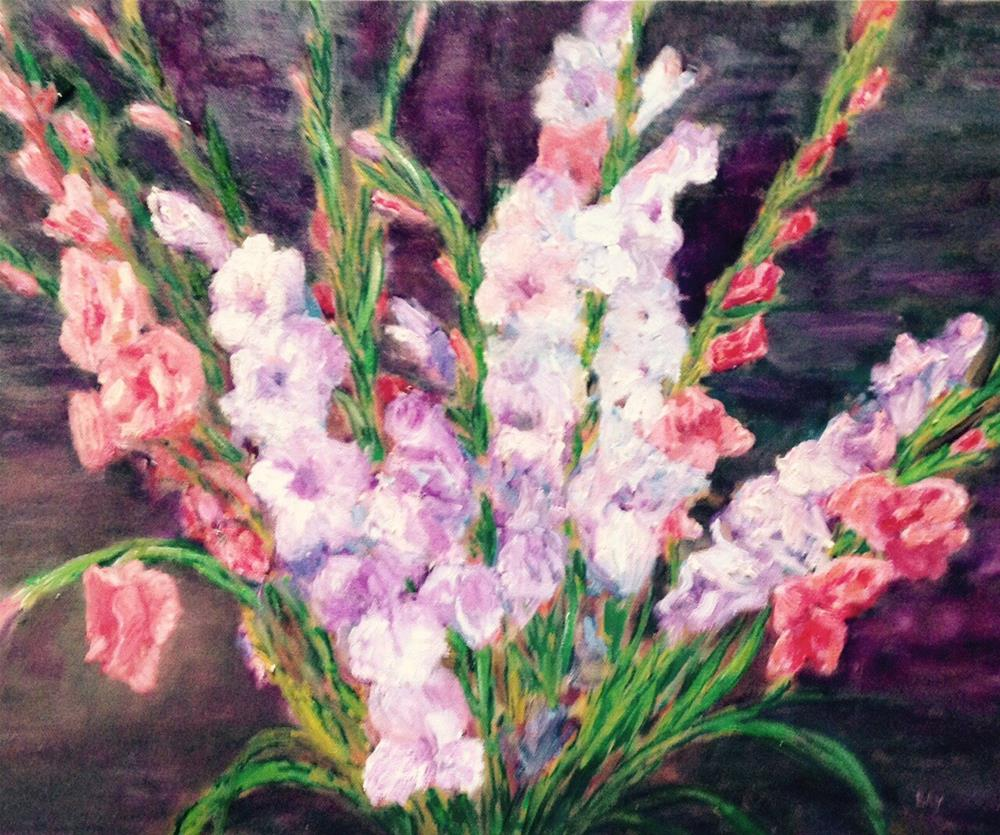 """Gladiolus"" original fine art by barbara yongue"