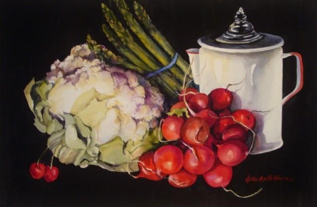 """Veggin' Out"" original fine art by Kathy Los-Rathburn"