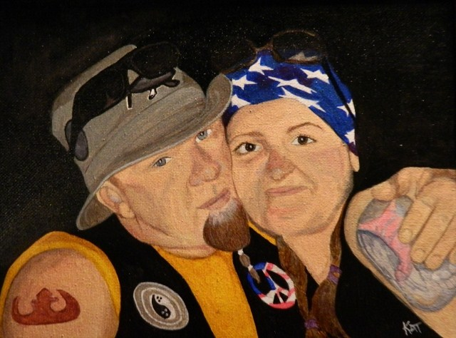 """Mel & Chris"" original fine art by Kathleen Carrier"