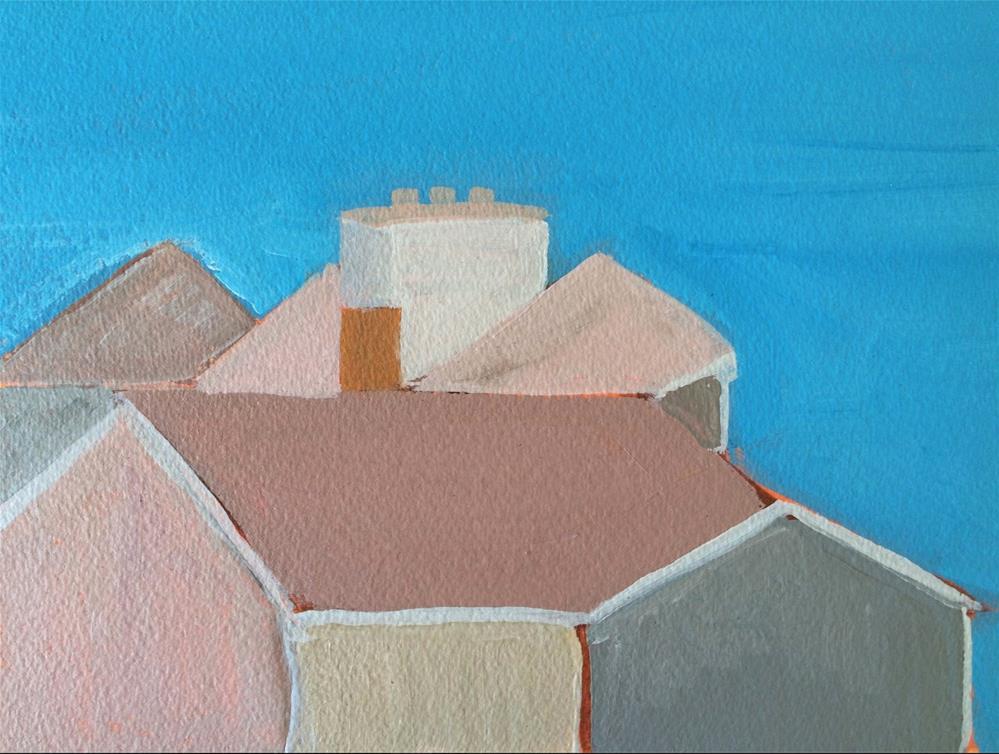 """""""House on Bayberry Hill Cuttyhunk Island, MA"""" original fine art by Susan Medyn"""