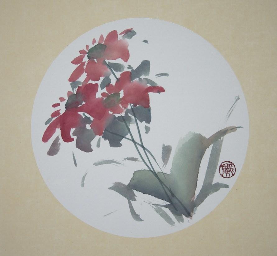 """unknown flower"" original fine art by R kwong"