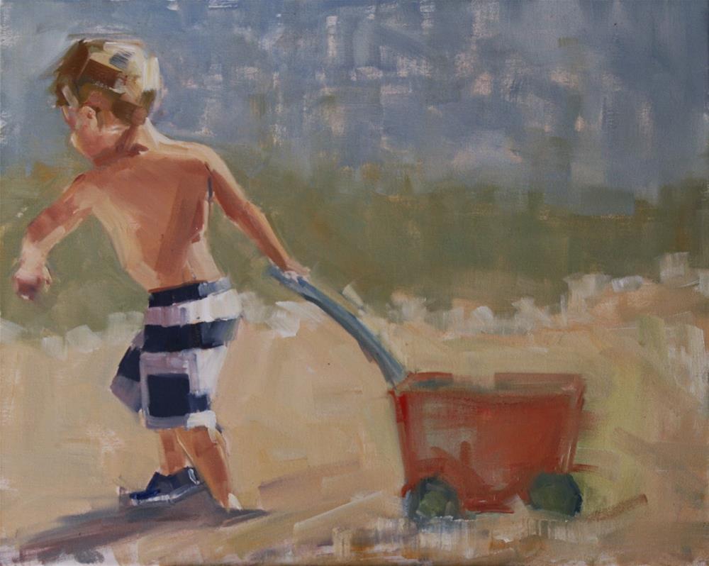 """""""all by myself"""" original fine art by Carol Carmichael"""