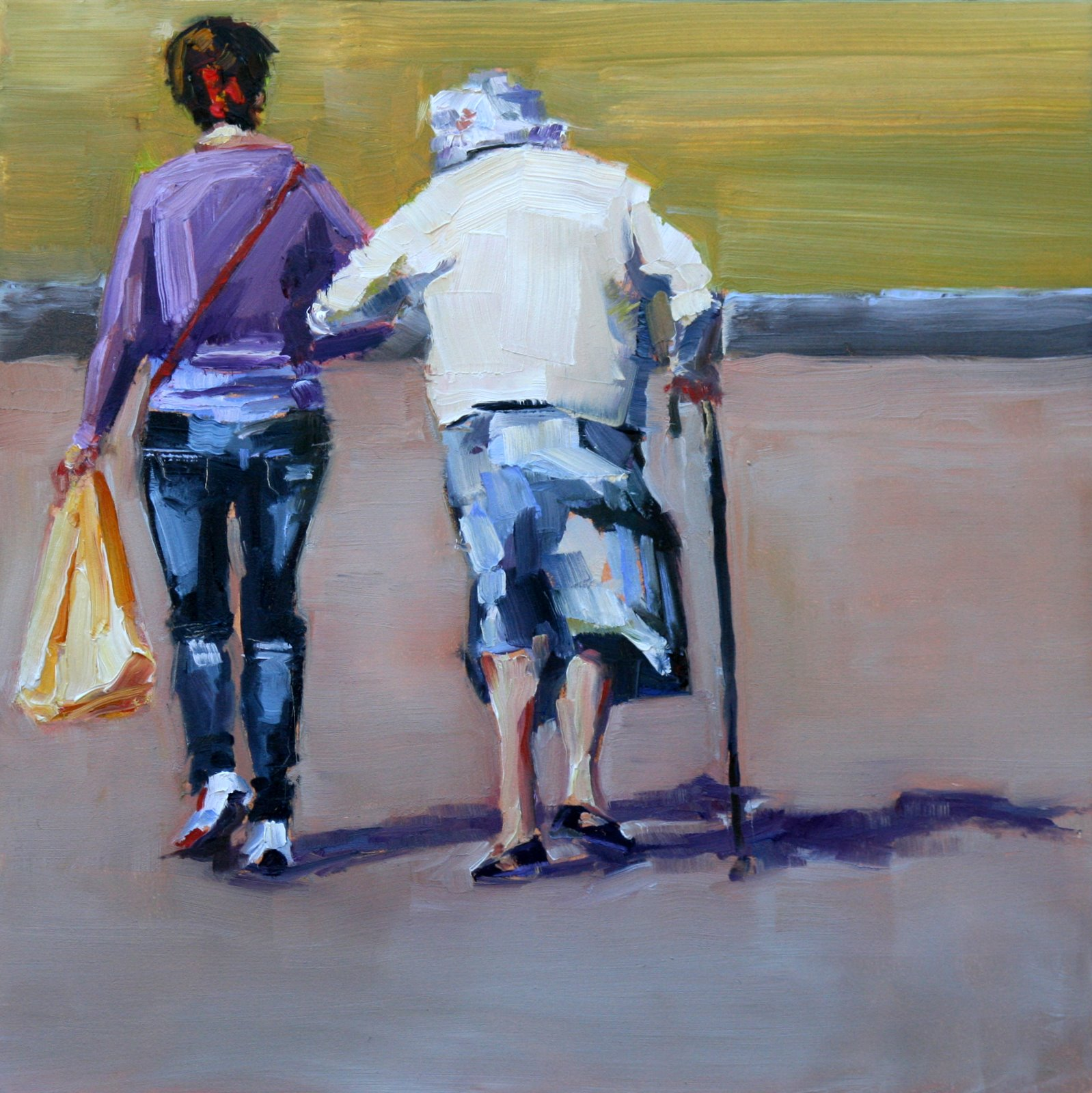 """a little help"" original fine art by Carol Carmichael"