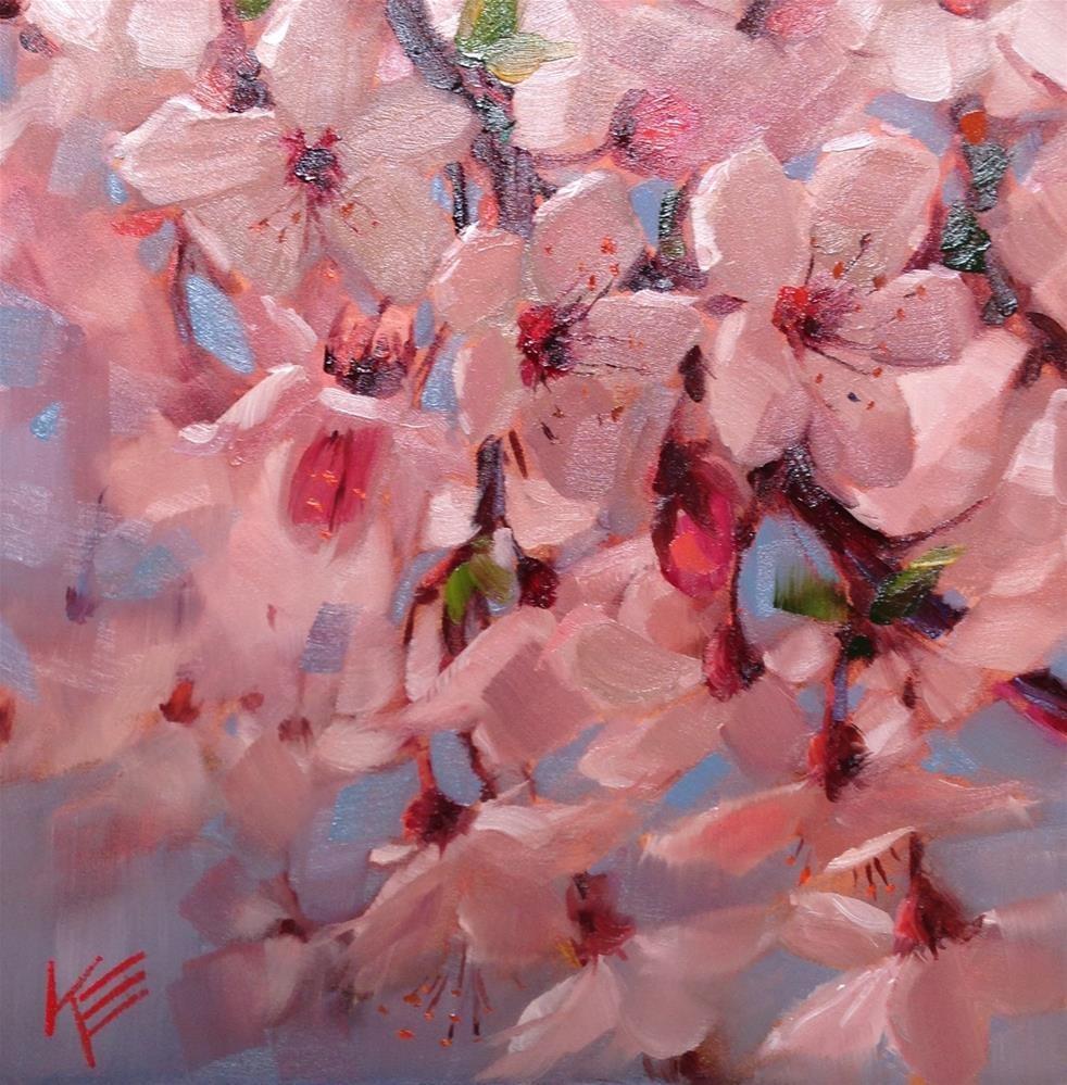 """Joyful blooms"" original fine art by Krista Eaton"