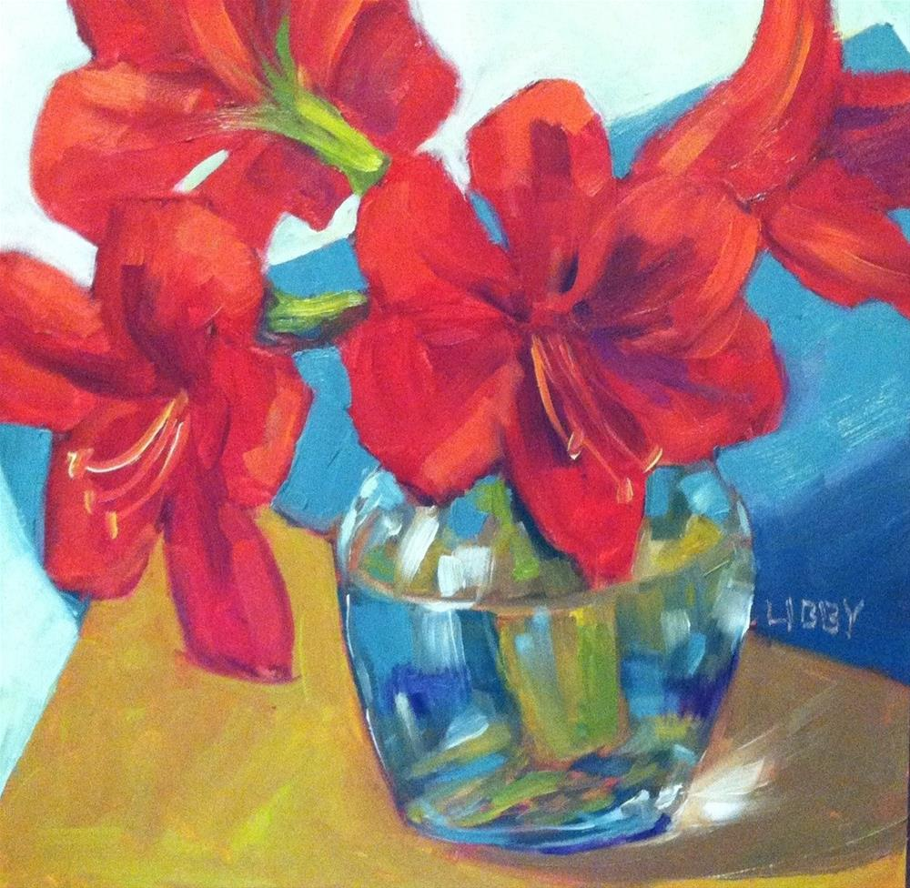 """Red on the Edge"" original fine art by Libby Anderson"