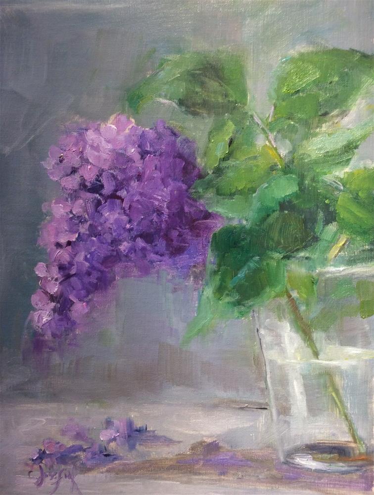 """Last lilac"" original fine art by Carol Josefiak"
