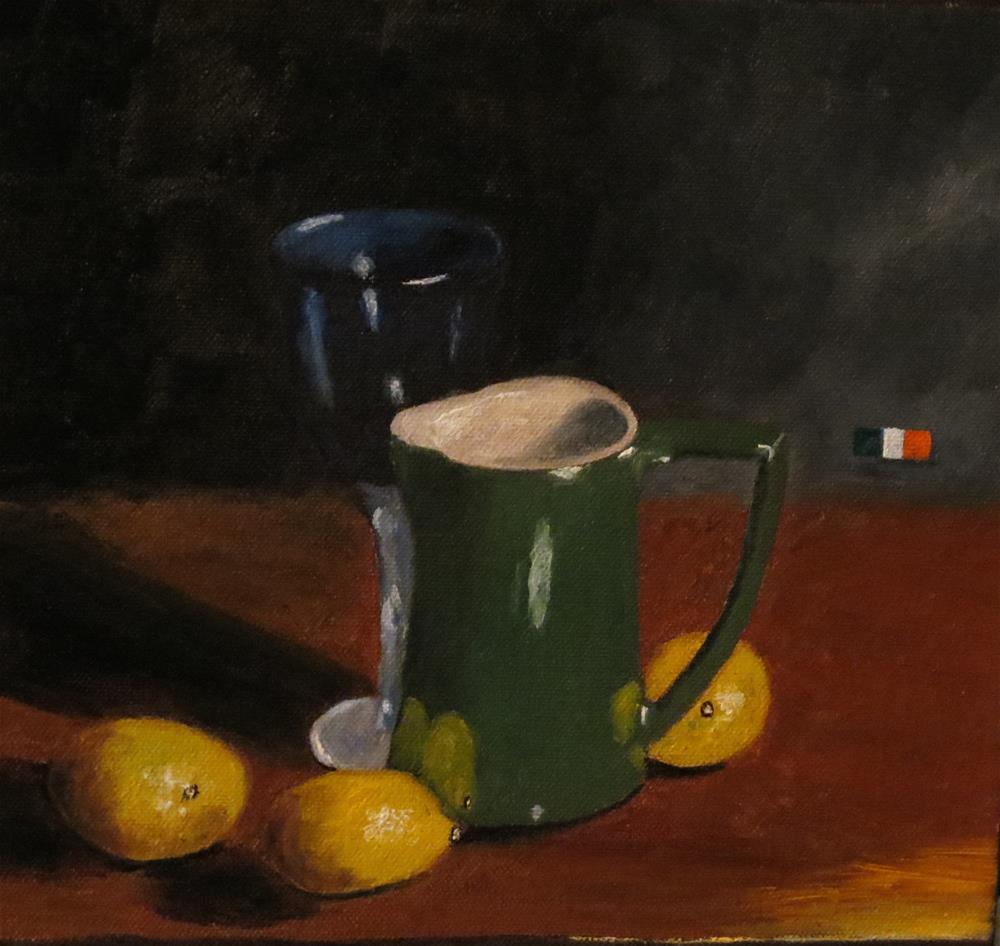 """John Jameson Pitcher"" original fine art by Bob Blackmon"
