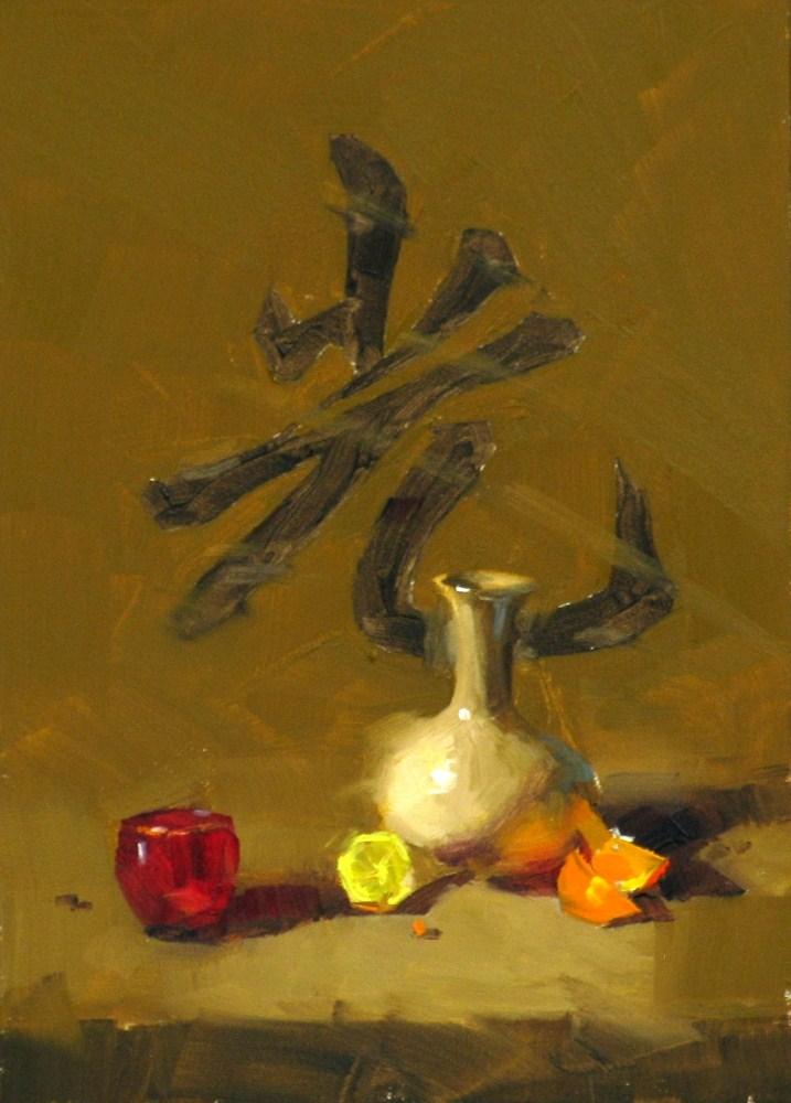 """""Let it be Light"" original fine art by Qiang Huang"
