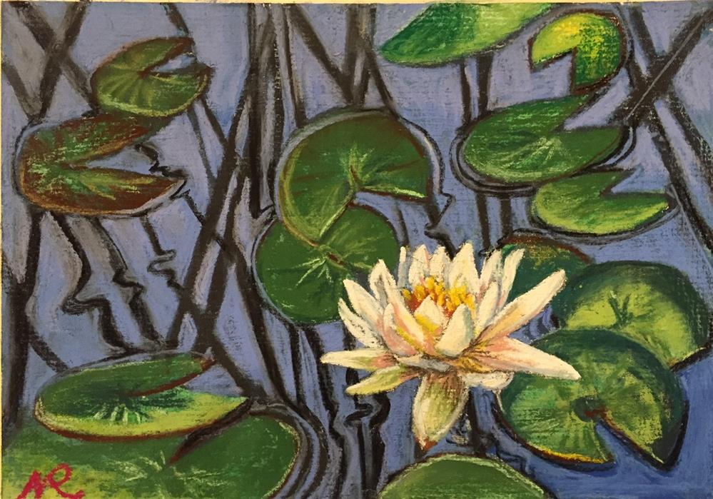 """Waterlily"" original fine art by Natasha Ramras"
