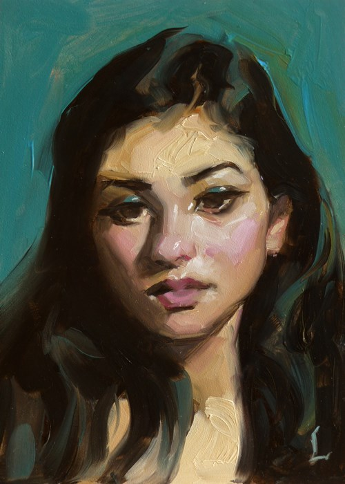 """Teal Feel"" original fine art by John Larriva"