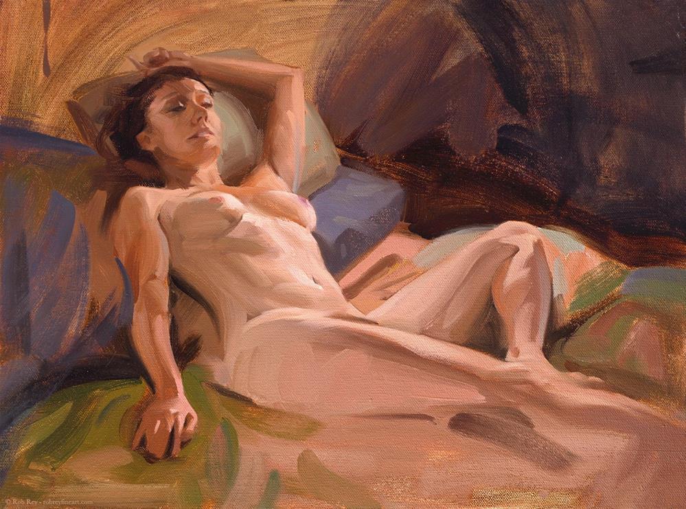 """Arched Back"" original fine art by Rob  Rey"