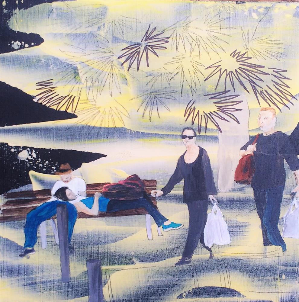 """""""take a break 2"""" original fine art by Sandra Woerner"""