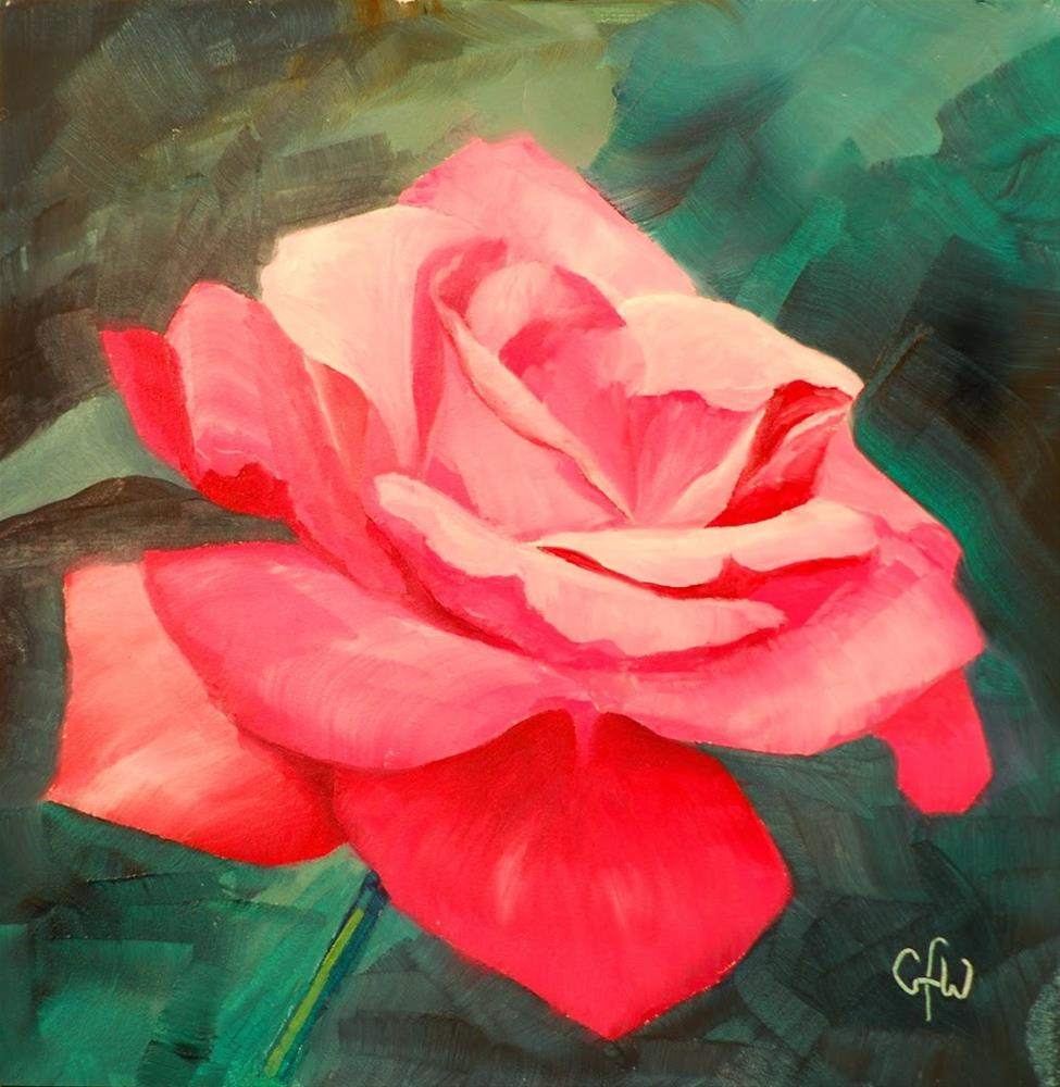 """Pink Rose"" original fine art by Gary Westlake"