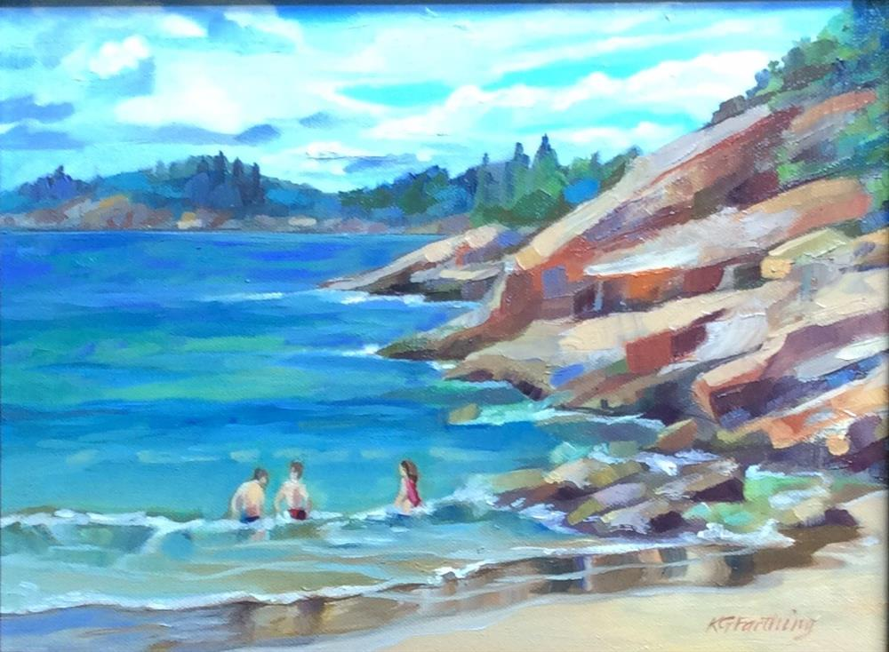 """Sand Beach"" original fine art by Kathleen Gray Farthing"