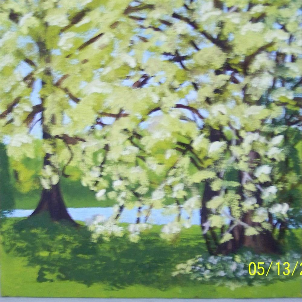 """Spring Has Come to Anchorage"" original fine art by Elaine Shortall"