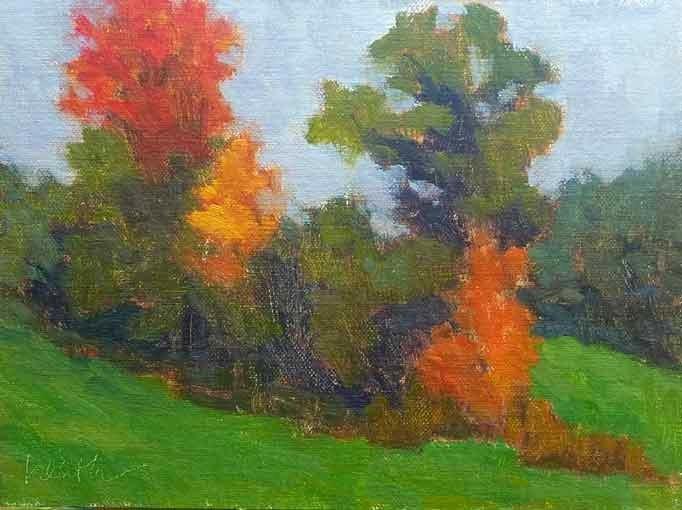 """Fall is in the Air"" original fine art by Bobbi Heath"