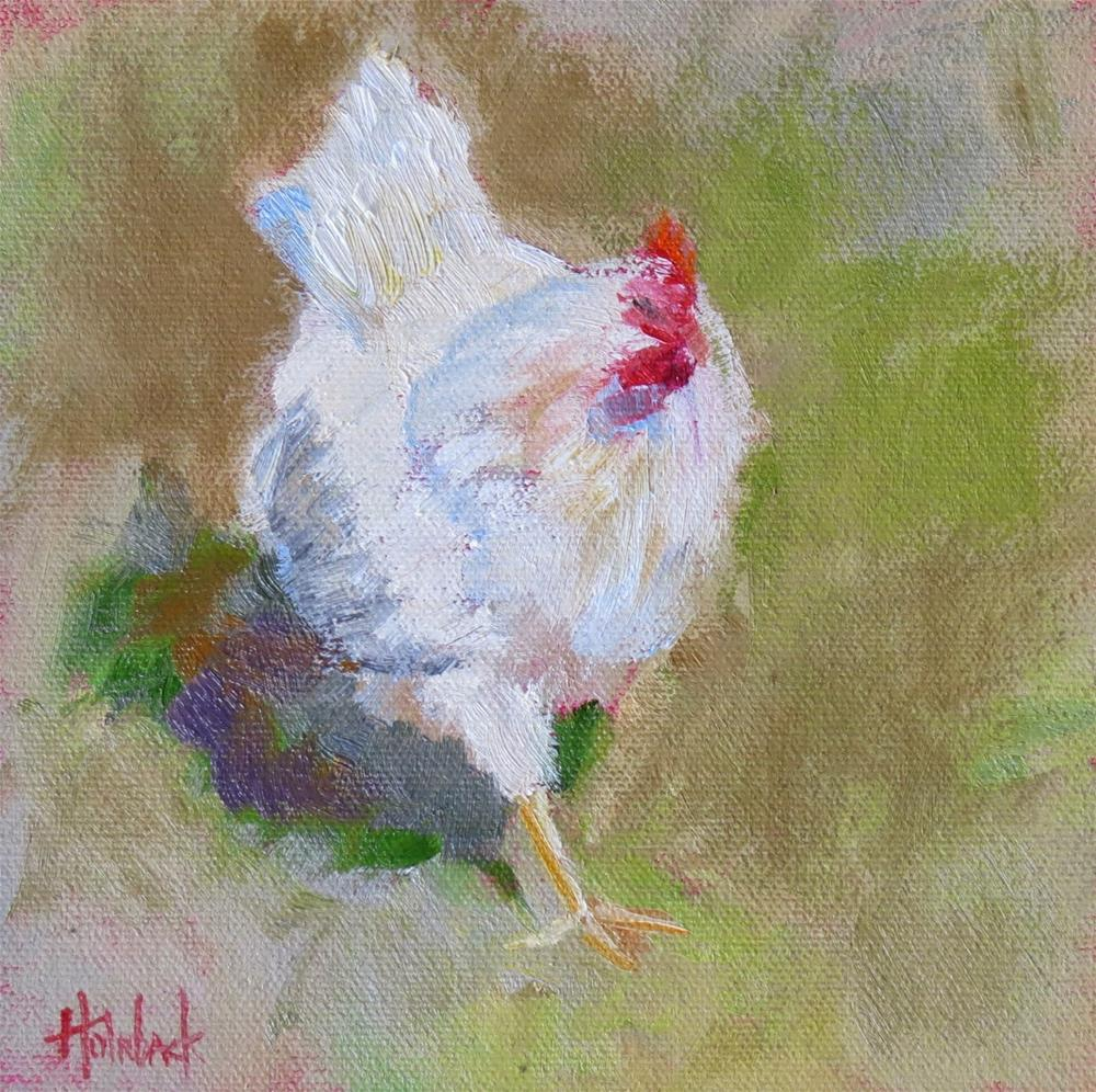 """Which Came First?"" original fine art by Pam Holnback"