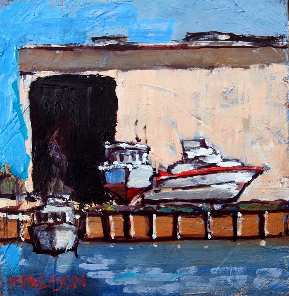 """Boat Storage"" original fine art by Rick Nilson"