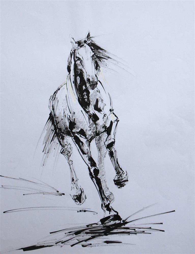 """Canter"" original fine art by Olga Touboltseva-Lefort"