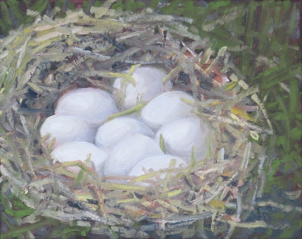 """Nest Eggs"" original fine art by Richard Kiehn"