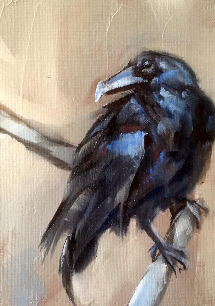"""Mr. Poe"" original fine art by Gary Bruton"