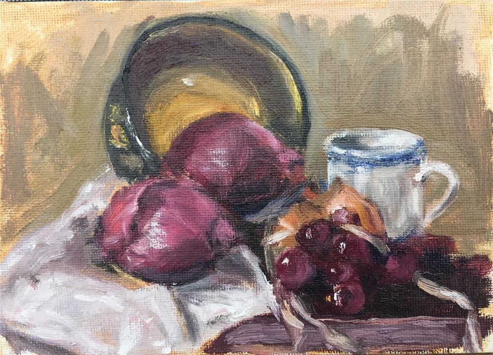 """Russian Bowl and Onions"" original fine art by Rick Blankenship"