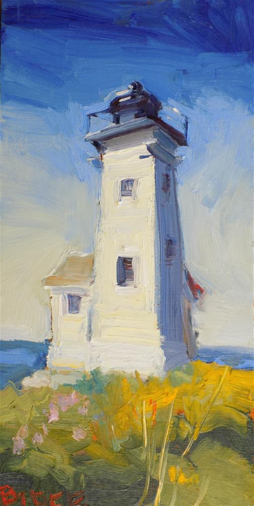 """Two Bush Lighthouse"" original fine art by Rita Brace"