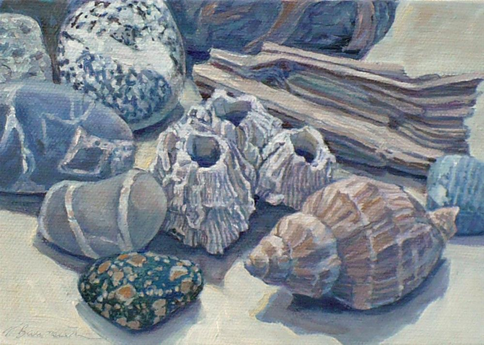 """""""Collections from the Beach"""" original fine art by Nicoletta Baumeister"""