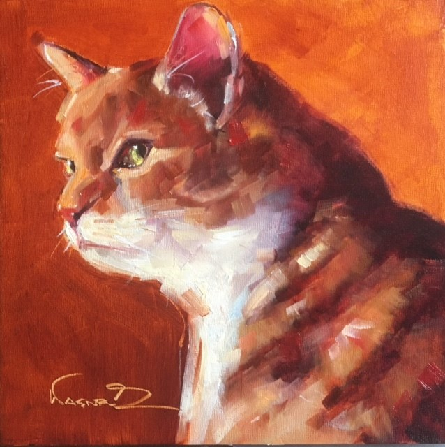 """Cole"" original fine art by Olga Wagner"