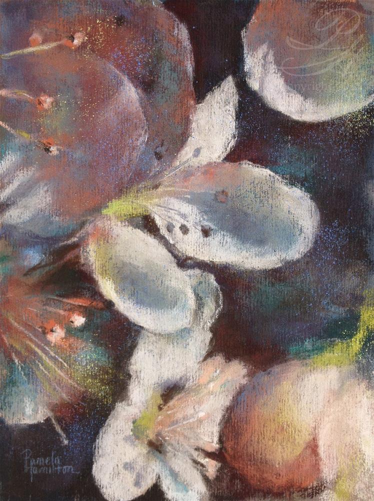 """""""Triptych Blossom, 3"""" original fine art by Pamela Hamilton"""
