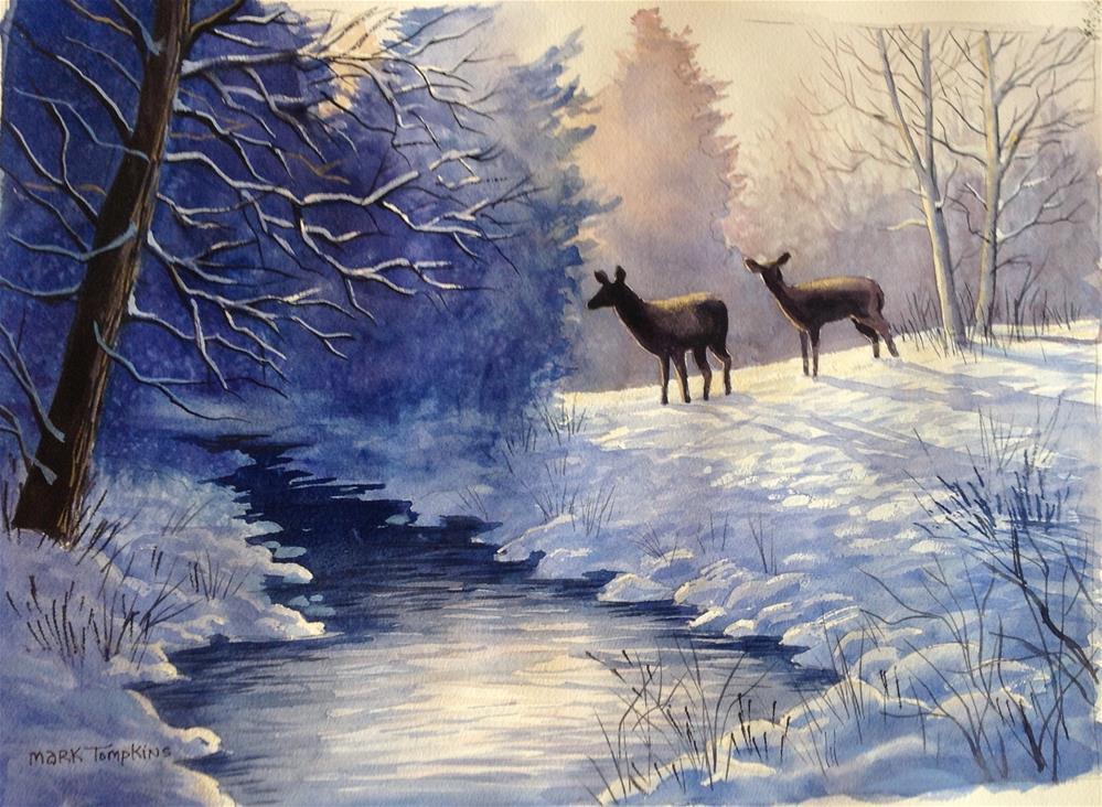 """Winter Survival"" original fine art by Mark Tompkins"