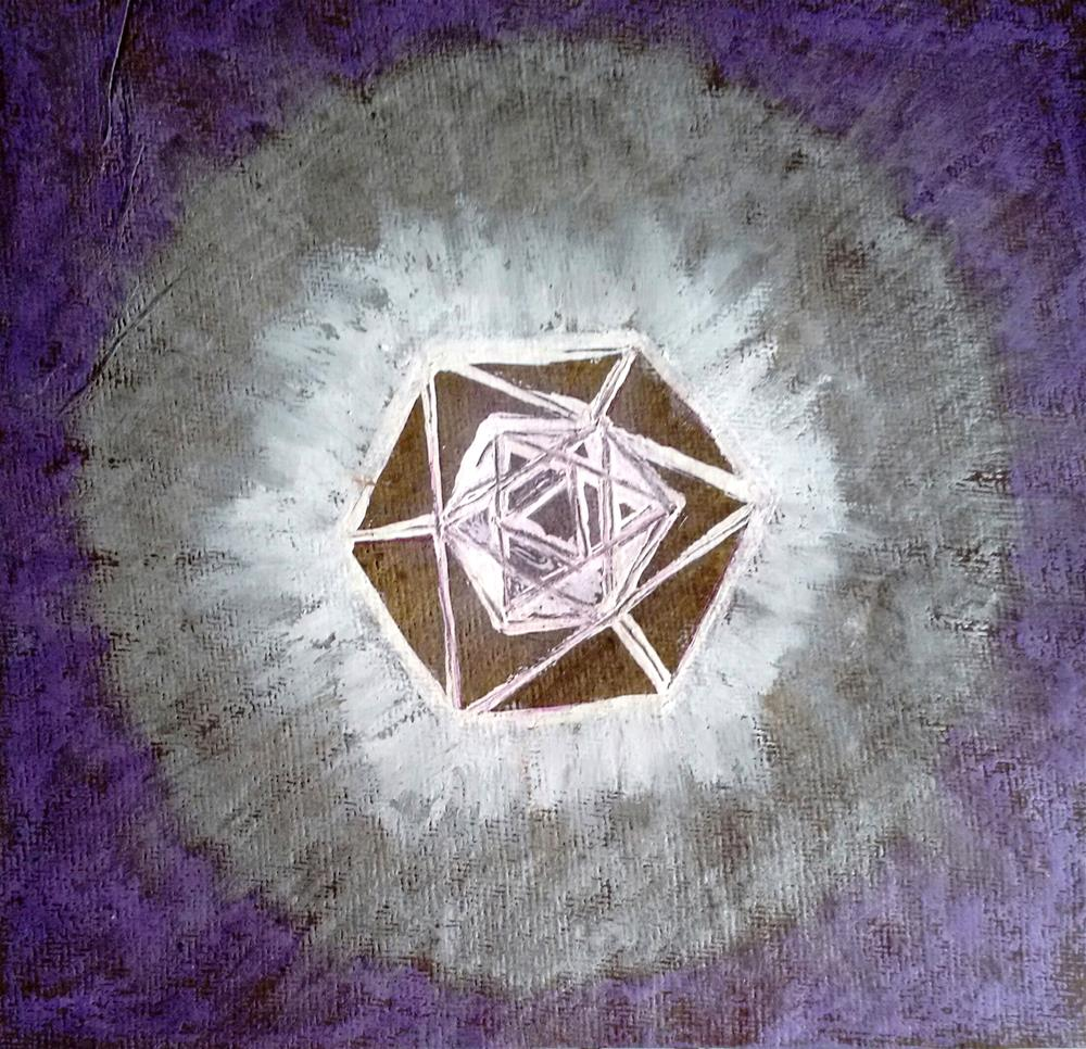 """""""Body Mandala"""" original fine art by Adéla Svobodová"""