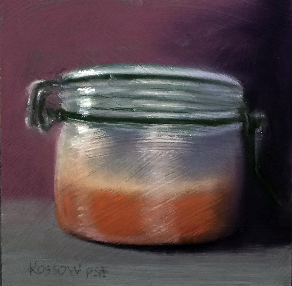 """Pint of Honey"" original fine art by Cristine Kossow"