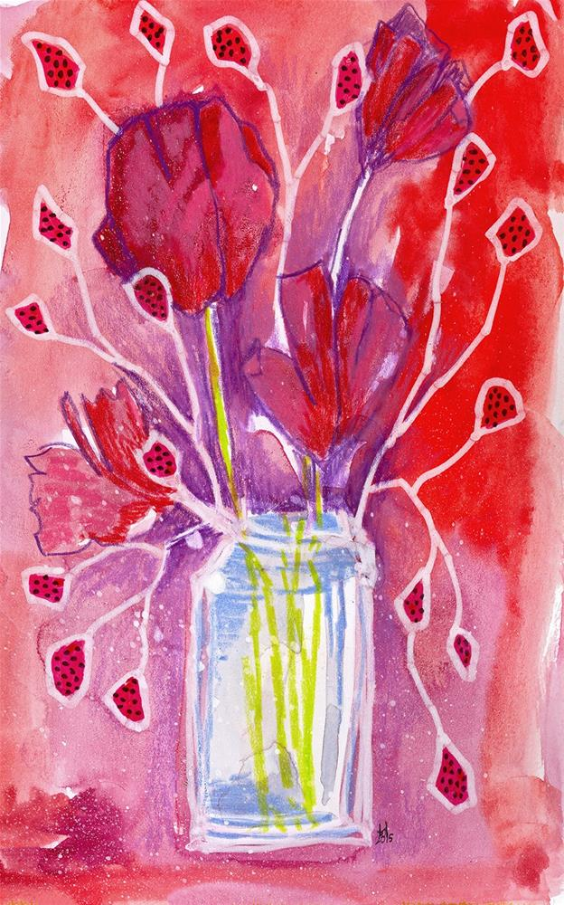 """Just the Reds, Ma'am"" original fine art by Tonya Doughty"