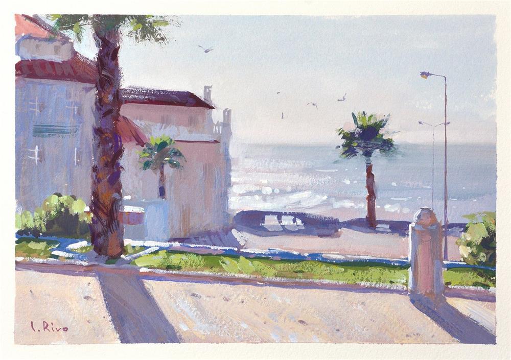 """Warm Breeze - Ericeira"" original fine art by Lena  Rivo"