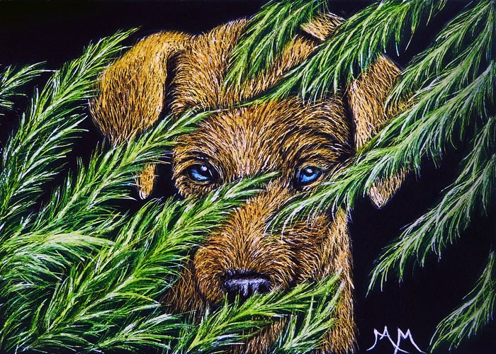 """Hiding"" original fine art by Monique Morin Matson"
