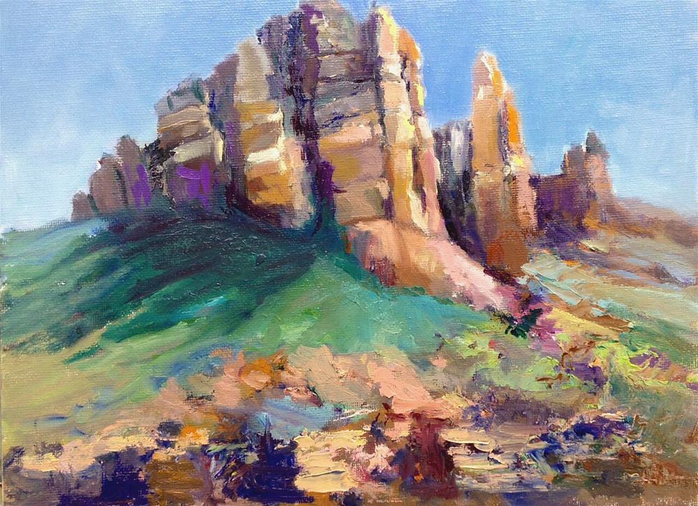 """Red Rocks and Sunshine"" original fine art by Cathy Boyd"